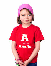 Personalised children T-shirt in bright colours GIFT 100% Cotton Crew Neck
