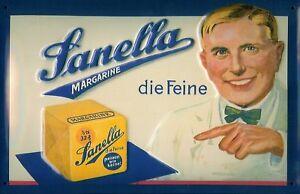 Sanella Margarine Blechschild Schild 3D geprägt gewölbt Tin Sign 20 x 30 cm