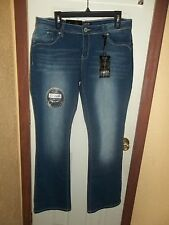 Womens ZCO JEANS Ultra Stretch Bootcut PUSH UP LIFT Size 14 NWT GREAT JEANS!