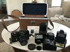Minolta XE7 35mm Film SLR Camera W/ Rokkor-X 50mm F1:1.4 Lens And 2 Other Lens