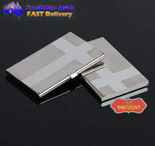 C Stainless Steel Business Credit Driver ID Cards Case Holder Cover Silver Metal