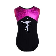Kids Girl One-Piece Glittery Ballet Dance Gymnastics Leotard Sportswear Jumpsuit