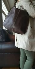 Kenneth Cole New York Womams Vintage Brown Leather Purse Hobo Hand Bag Tote