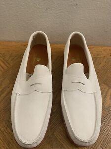 New Alden Offshore 7325 One Design White Suede Loafer Men's Size 12 EEE