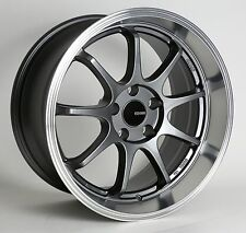 4 Enkei Tenjin Wheels 17x9 5x100 +45 Gunmetal Machined Rims