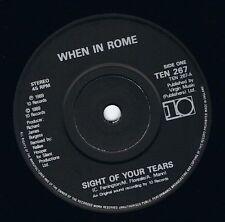 """Cuando en Roma vista de tus lágrimas 7"""" single vinyl record 45 Rpm 10 1989 ex"""