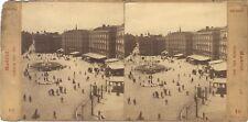 Espagne Madrid Puerta del Sol Stereo Vintage albumine ca 1865