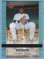 Sammy Sosa 2002 Upper Deck Ovation #109 Chicago Cubs Combined Shipping