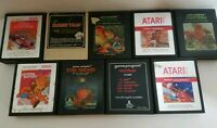 Atari 2600 Lot Of  9 Video Games Cartridge Only TESTED Work Perfect