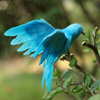 Fake Bird Realistic Feathered Artificial Craft Animal Home Garden Decor Blue