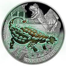 3 euro Autriche 2020 – Dinosaure Ankylosaure / Revers colorisé
