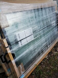 "Pella Impervia Black Fiberglass Large Picture Window Tempered Glass 47""x70.5"""