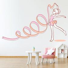 Pink Ballerina Girl Ballet Wall Sticker WS-47457