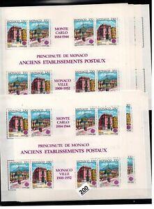/// 10X MONACO - MNH - EUROPA CEPT 1990 - ARCHITECTURE - PEOPLE