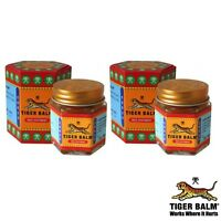 2 x RED TIGER BALM FOR FAST EFFECTIVE PAIN RELIEF Cheapest on Ebay -21Ml 18G
