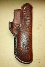Handmade 1911 Leather Holster stamped in a Floral design