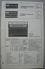 ITT/Schaub Lorenz Touring international 101 X Netz Service Manual, K001, K001A