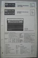 ITT/Schaub Lorenz Touring international 101 X Netz Service Manual, K001, K001A