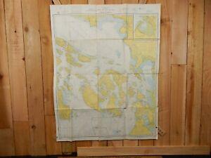 VINTAGE C&GS Nautical Chart WASHINGTON STRAIT OF JUAN DE FUCA 36x46 Sailing Map