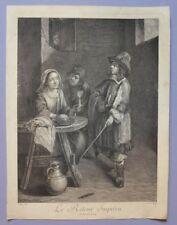 Gravure XVIIIème - Le Retour Imprévu - D'après Gillis II VAN TILBURG par Lucas