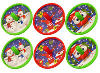 6 Christmas Spinning Tops - Pinata Toy Loot/Party Bag Fillers Stocking Kids Gift