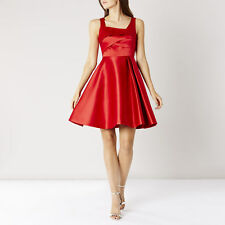 Ex Coast Amore Satin Dress in Red Size 8 10 12 14 16 18 RRP £149 (BR19)