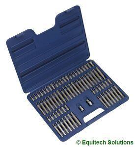 "Sealey  AK21974 TRX Star Hex Spline Ribe Security Bit Set 3/8"" & 1/2"" Drive"