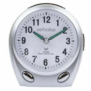Verbalise Talking Alarm Clock, Silver