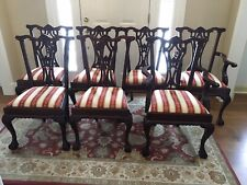 Set of 7 Chippendale Style Ball & Claw Mahogany Dinning Chairs