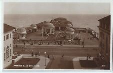 Hastings Bandstand Enclosure Pier - vintage Postcard