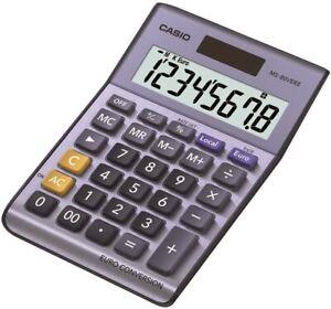 Casio MS-80VERII 8 Digit Currency Desk Office Calculator EURO CONVERSION