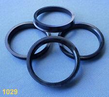(1029) 4 Stück  Zentrierringe 65,0 / 57,1 mm schwarz