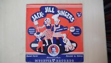 """Musette Record Jack& Jill Singers HICKORY DICKORY DOCK No.4 Book & 7"""" 78rpm 1942"""