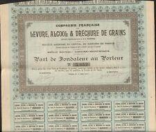 LEVURE, ALCOOL & DÉCHURE de GRAINS (AMIENS 80) (I)