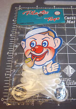 vintage 1960s dime store kids plastic scissor style toy man waving arms, unique