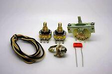 FENDER TELECASTER STANDARD WIRING KIT WITH 0.047uF .047uF SPRAGUE ORANGE DROP