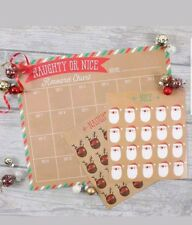 Christmas Naughty or Nice Reward Chart Kids Santa and Reindeer Stickers Xmas