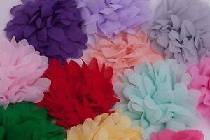 """4"""" Chiffon Flower for tutu dress hair applique wedding craft embellishments"""