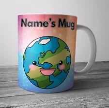 Planet Earth personalizzato Tazza/Coppa compleanno regalo di Natale-Aggiungi qualsiasi nome