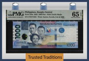 TT PK 228a 2020 PHILIPPINES BANGKO SENTRAL 1000 PISO PMG 65 EPQ GEM UNCIRCULATED