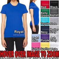 American Apparel Ladies Cotton Junior Cut T-Shirt Form Fitting Tee S M L XL, 2XL
