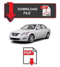 Hyundai Genesis Sedan 2011 year specific Factory Service Repair Workshop Manual