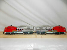 Bachmann F-3 Diesel AA Santa Fe Chrome Locomotive Set