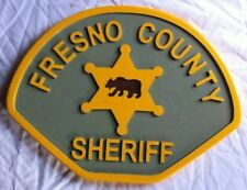 Fresno County Sheriff Police 3D routed wood carved patch plaque sign Custom