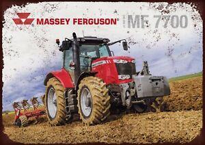 Massey Ferguson 7700 tractor metal wall sign