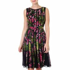 NEW MSRP $160 - ADRIANNA PAPELL Women's Floral Printed Dress, Black Multicolor