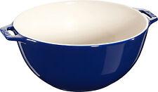 STAUB Céramique Bol de salade Saladier Panier Fruits rond bleu foncé 25 c