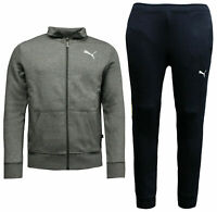 Puma Mens Style Sweat Suit Cl Tracksuit Top Joggers Grey Navy 851555 03 A92D