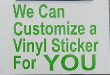 Custom Oracal Vinyl Decal Sticker