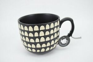 The Old Pottery Company White Dots 4 Inch Mug Made in England